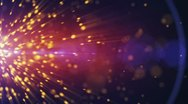 Particles explosion background Stock Footage