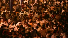 People at a night market in China Stock Footage