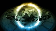 NEWS Earth - Earth 67 (HD) - stock footage