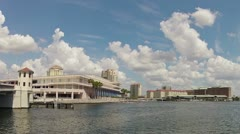 Tampa Bay Waterway, Downtown Area Time Lapse 2 Stock Footage