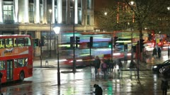 London buses timelapse. 29.97fps. - stock footage