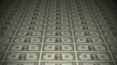 Dollars travelling 01 Stock Footage