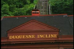 Pittsburgh, Pennsylvania, Duquesne Incline Railroad up Mt. Washington Stock Footage