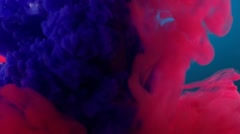 Pink and purple ink in water, Slow Motion Stock Footage