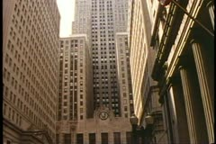 Chicago Board of Trade Building, wide shot, tilt up, Chicago, Illinois - stock footage