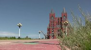 New church in Manzhouli, at the border between China and Russia Stock Footage