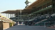 Stock Video Footage of HORSE RACETRACK STADIUM 2