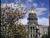 Colorado State Capital building, Denver, Colorado Stock Footage