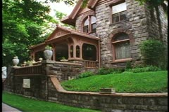 The Molly Brown House, Victorian mansion in Denver, Colorado, side view Stock Footage