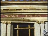 Grand Junction, Colorado rail depot, sign Stock Footage