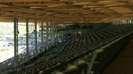 Stock Video Footage of POV STADIUM BLEACHERS