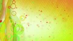 Particles lines orange green loop background Stock Footage