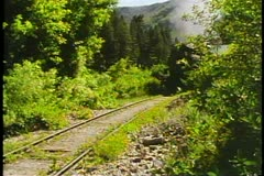 The Heber Valley Steam Train, steam locomotive passes by, close up Stock Footage