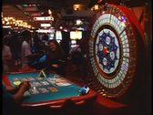 Casino Interior, vertical Wheel of Fortune, Las Vegas, Nevada Stock Footage