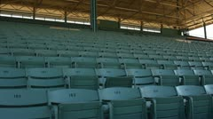 EMPTY SEATS IN A STADIUM Stock Footage