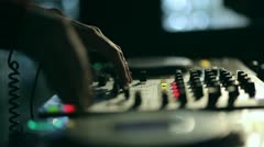 Dj mixes the track - stock footage