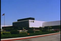 CBS Television City, wide shot no people or traffic, wide shot, in Hollywood Stock Footage