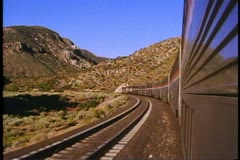 "Amtrak's ""Southwest Chief"" Train, POV out train in the desert west Stock Footage"