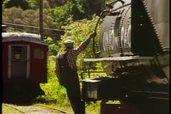 The Heber Valley Steam Train, steam locomotive backing up Stock Footage
