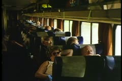 "A Coach interior of Amtrak's ""California Zephyr"" - stock footage"