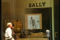 Bally Store, Beverly Hills, California, people walk in front Stock Footage