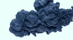 Blue ink in water, Slow Motion - stock footage