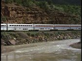 Pass by shot of Amtrak's
