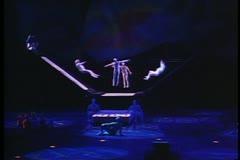 Cirque de Soleil, Mystere, trampoline act,  Las Vegas, Nevada Stock Footage