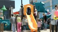 Children's playground Stock Footage