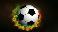 Soccer Ball in Particle Ring 1 - HD1080 Stock Footage
