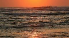 Seascape at sunrise Stock Footage