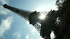 Morning near the Eiffel Tower,time lapse Stock Footage