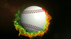Baseball Ball in Particle Ring 1 - HD1080 Stock Footage