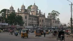 Hyderabad Old City Traffic Stock Footage