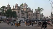 Stock Video Footage of Hyderabad Old City Traffic
