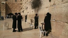 Wailing Wall, Jerusalem. Stock Footage