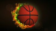 Basket Ball in Particle Ring 1 - HD1080 Stock Footage