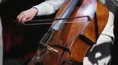 Violoncellist Stock Footage