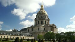 Napoleon's tomb, one of the attractions of Paris Stock Footage