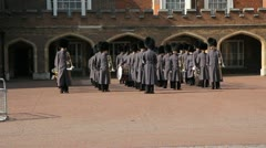 Queens guards military band. Stock Footage
