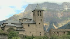 Spain Pyrenees Torla zooms out 2 Stock Footage