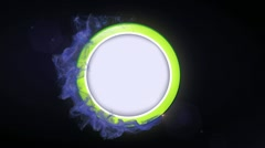 Speech Balloon in Particle Ring 2 - HD1080 - stock footage