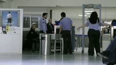 Airport security Stock Footage