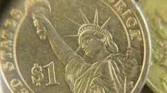 Stock Video Footage of Consider a coin one dollar