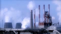 Industrial smog - stock footage