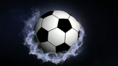 Soccer Ball in Particle Ring 2 - HD1080 Stock Footage