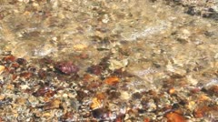 Mountain river with clear cold cristal water flow Stock Footage