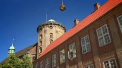 Rundetårn (Round Tower)in the Distance, Copenhagen GFHD - stock footage