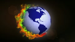 Earth in Particle Ring 3 - HD1080 Stock Footage