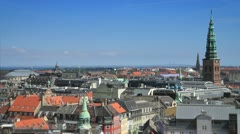 View 04 of Copenhagen from Rundetårn (Round Tower), Denmark GFHD - stock footage